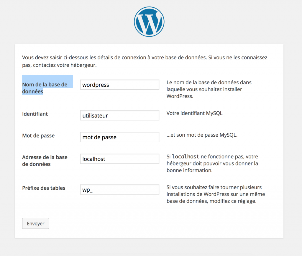Config WordPress