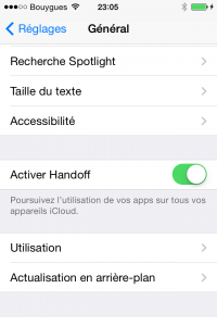 iOS 8 beta 3 : handoff