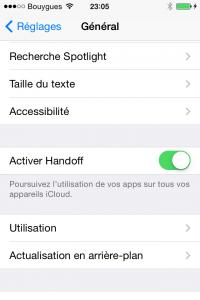 iOS 8 beta 3 : handoff