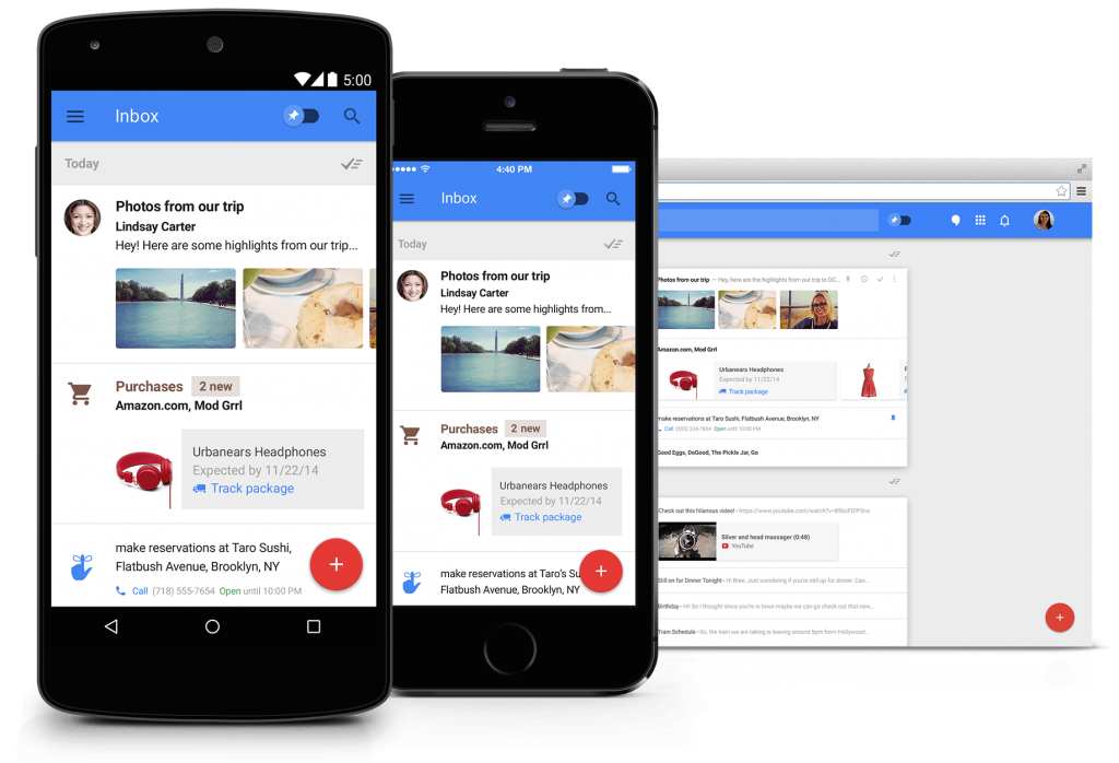 Top 10 applications iOS 2014 : Inbox by Gmail