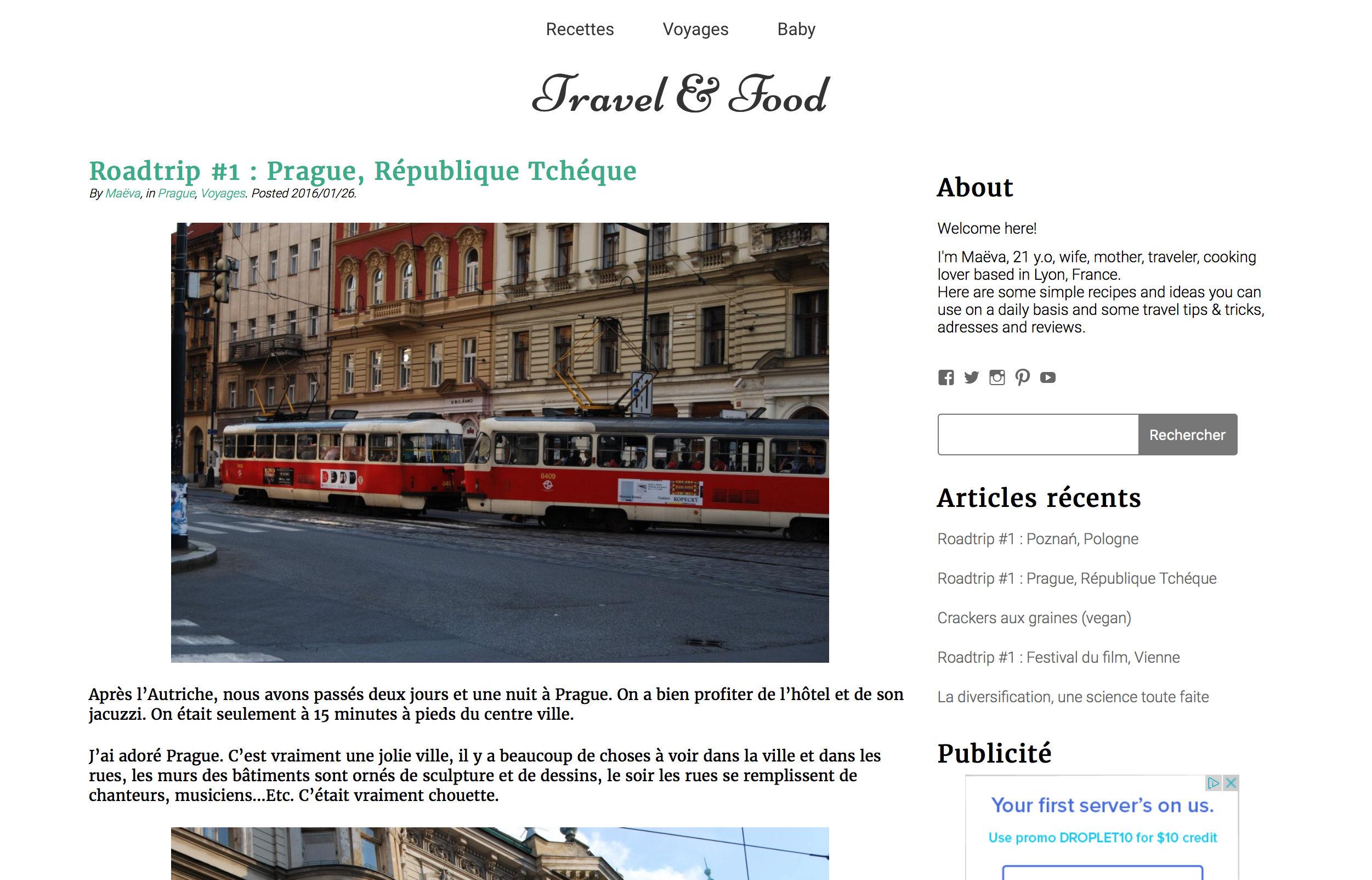 un article sur Travel & Food