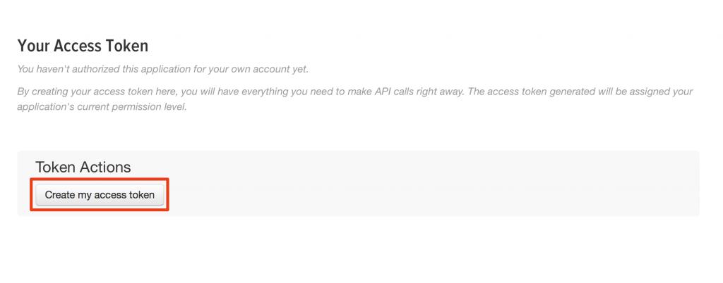 App twitter : create tokens