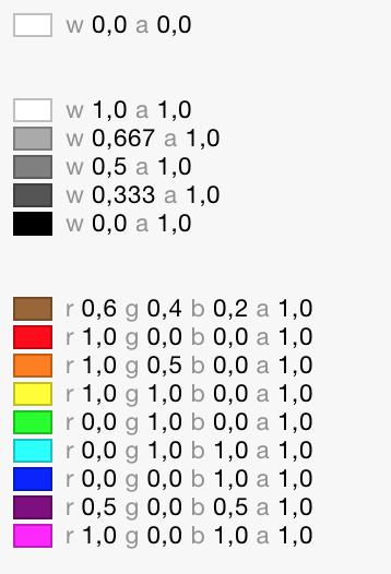 UIColor : couleurs prédéfinies