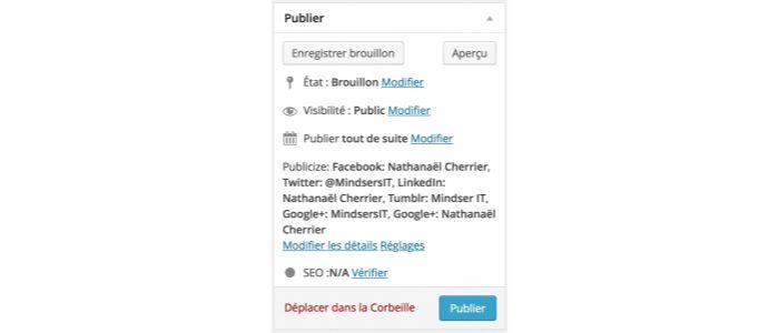 Planifier article WordPress : normal