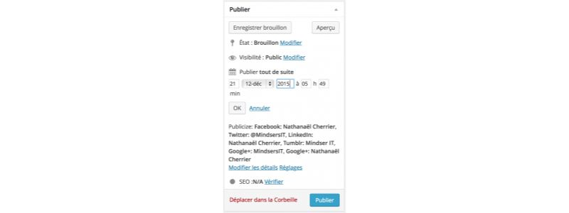 Planifier article WordPress : modifier date