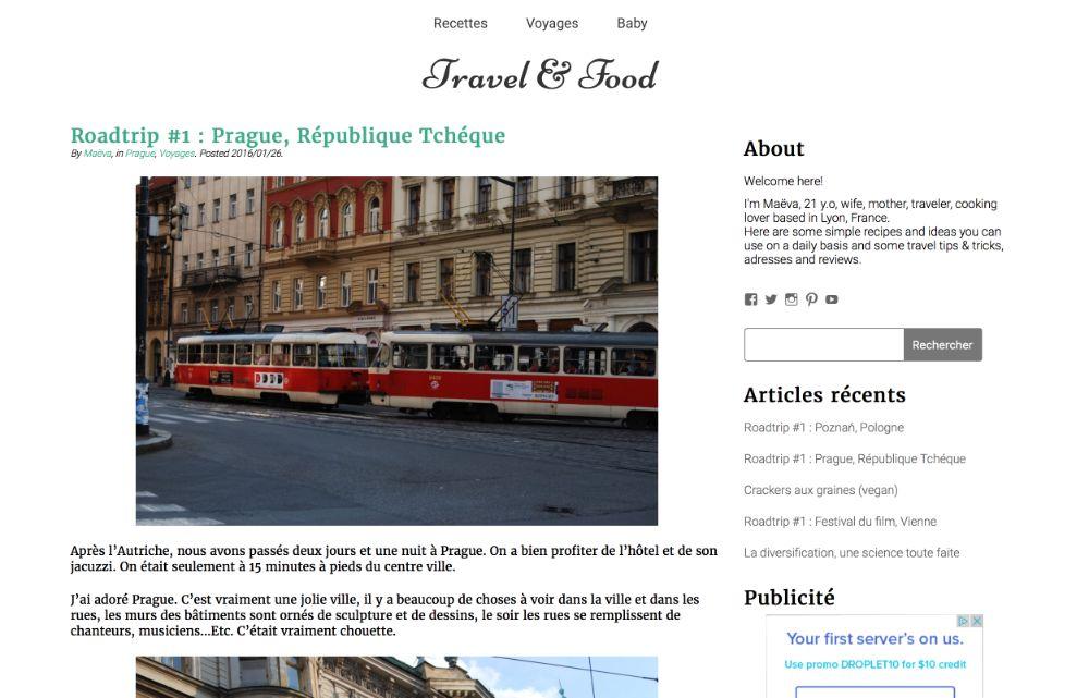 un article sur Travel & Food